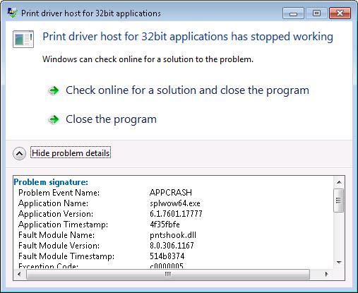 Printer Driver Host For 32 Bit Applications