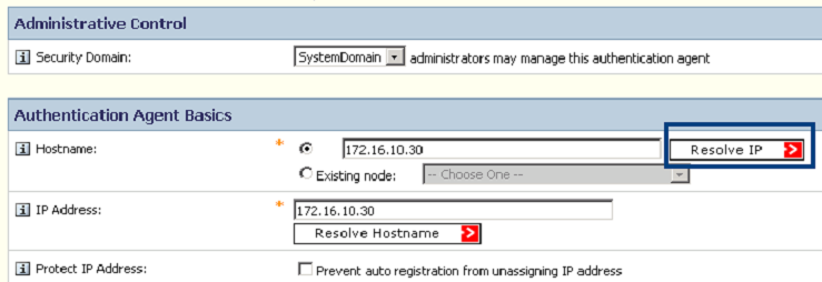 SecurID External Authentication: Enable an ACE server with