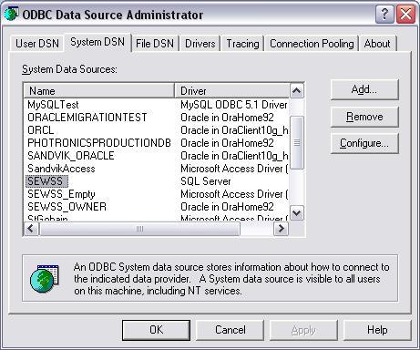 Oracle Dsn