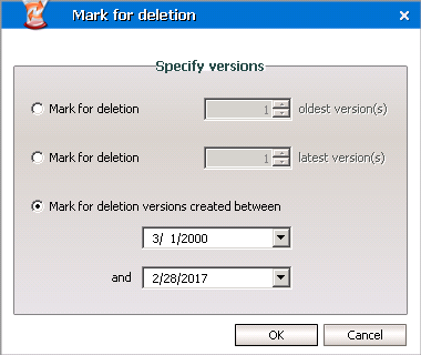 e-mark for deletion