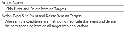skip event and delete on target 1