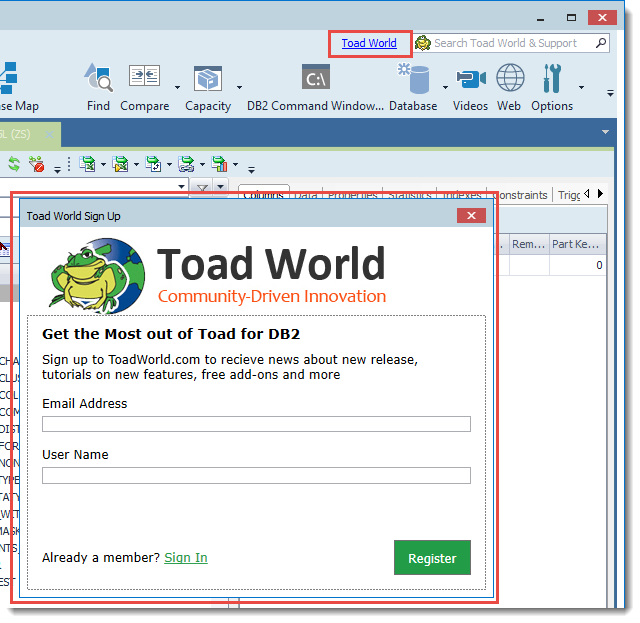 Toad for DB2 6 3 - Release Notes