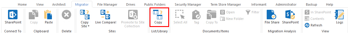 Migrator copy lists and libraries 6