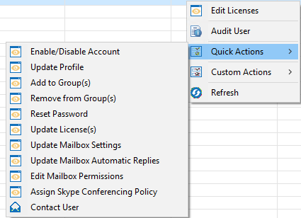 Administrator Quick and Custom Actions4
