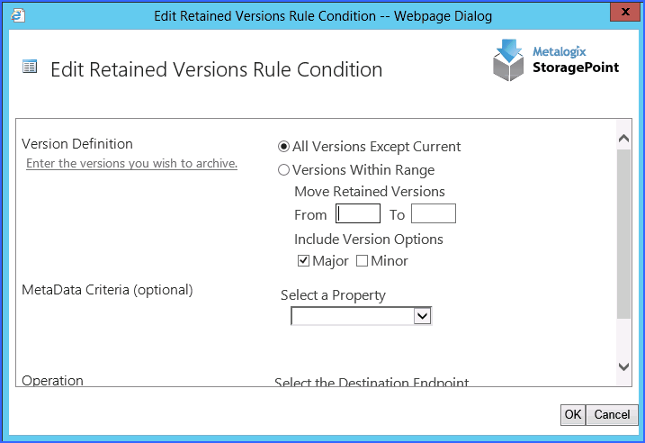 retained versions ui