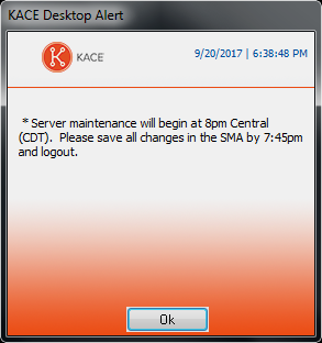 The image shows an alert dialog with the Dell logo at the top left.