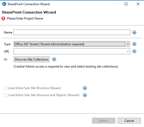 Connecting to SharePoint Office Tenant