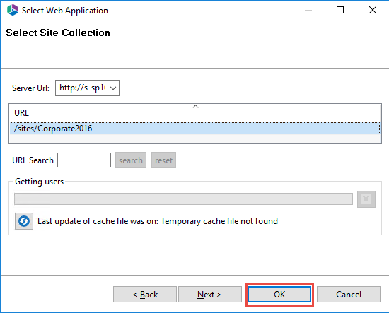 Connecting to SharePoint Site Collections2